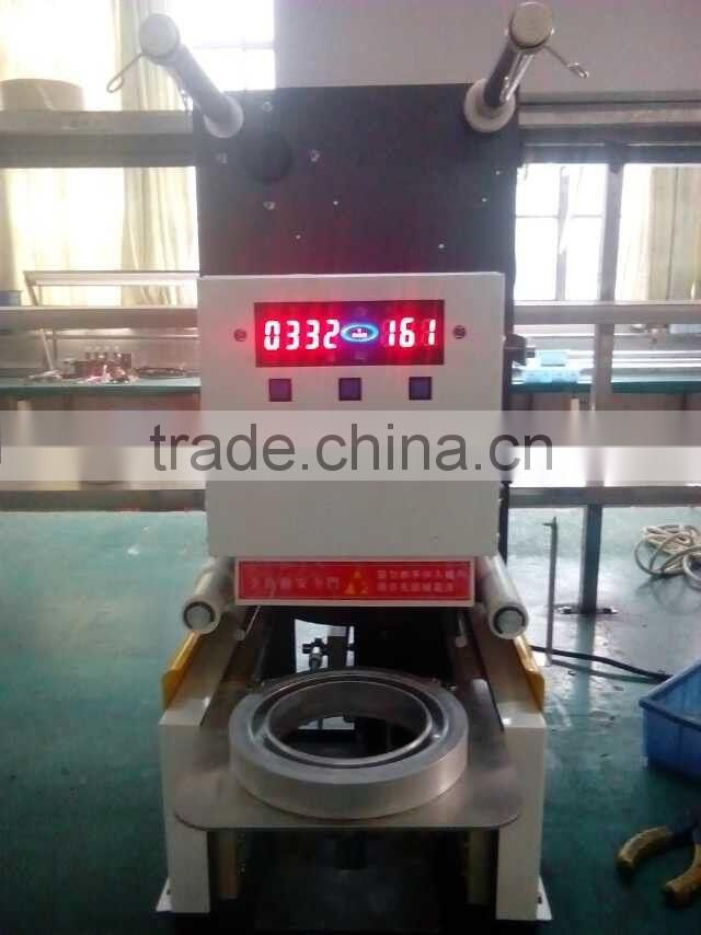 Semi automatic cup lid sealing machine price for bubble tea
