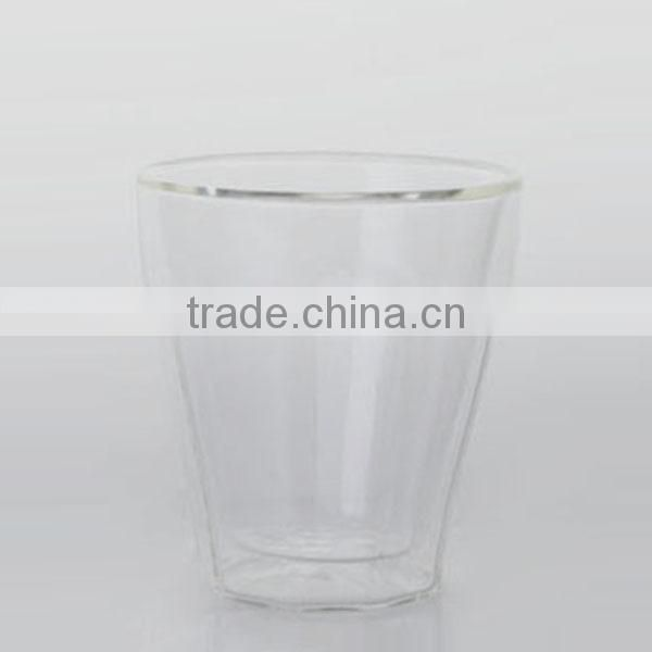 9 oz heat resistance clear double wall tumbler drinking glass
