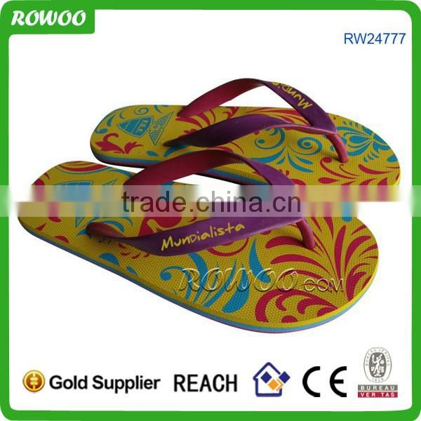 2016 manufacturers china beach kids double color sandal shoes