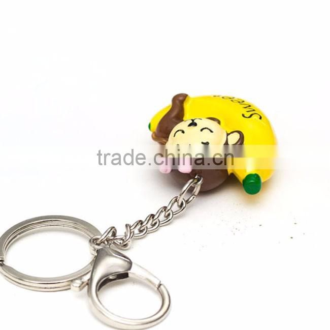 Monkey /banana custom made keychains
