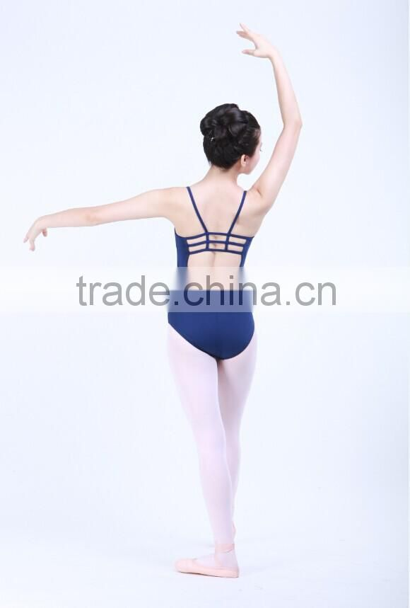 D031013 Adult gymnastics leotard fabric nylon and Lycra cross-back camisole ballet leotard