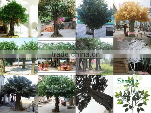 China manufacturer make imitated decorative artificial ficus banyan tree house for outside decoration