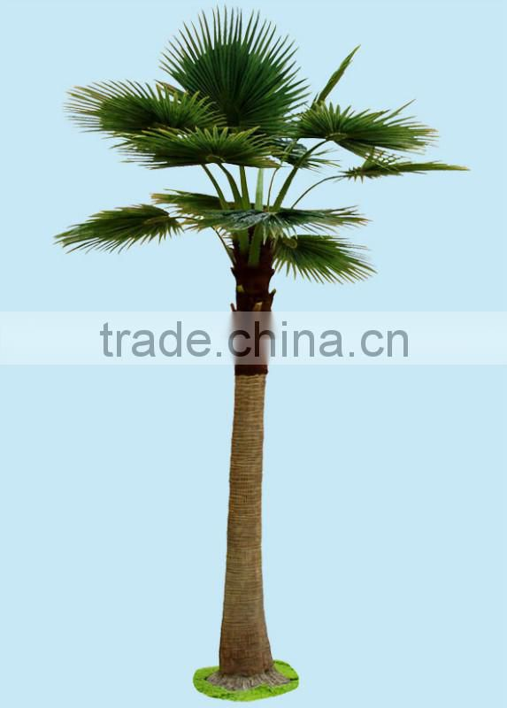Home garden edging decorative 5ft to 16ft Height outdoor artificial green plastic palm trees EDS06 0825