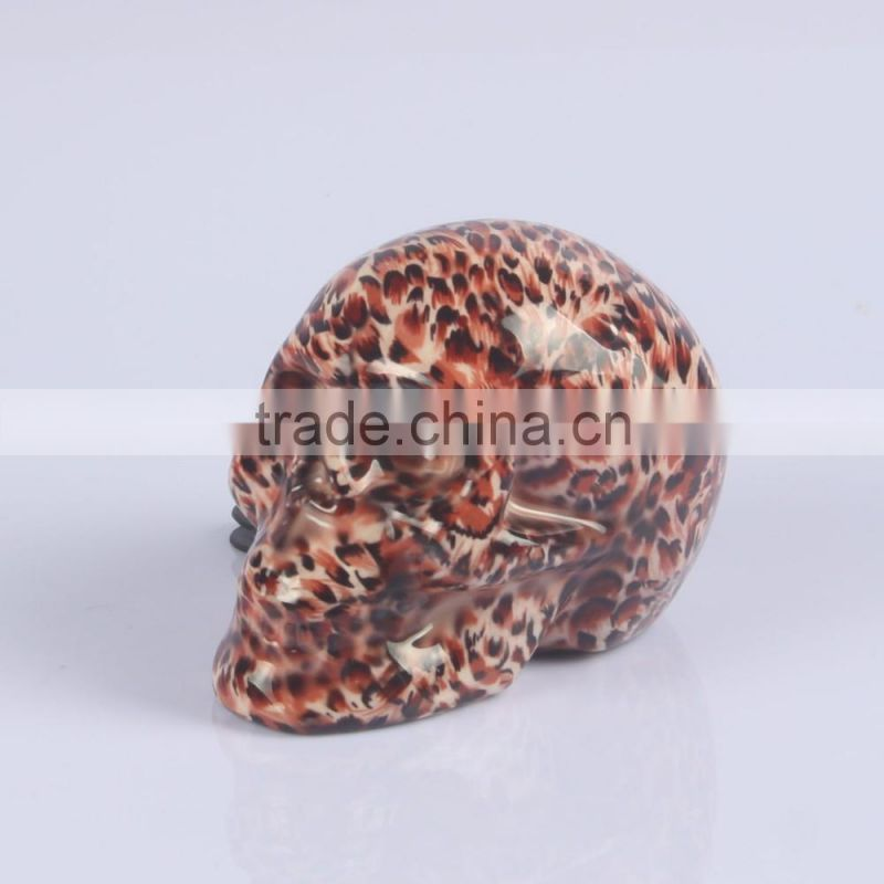 New design Ceramic black skull shape piggy bank