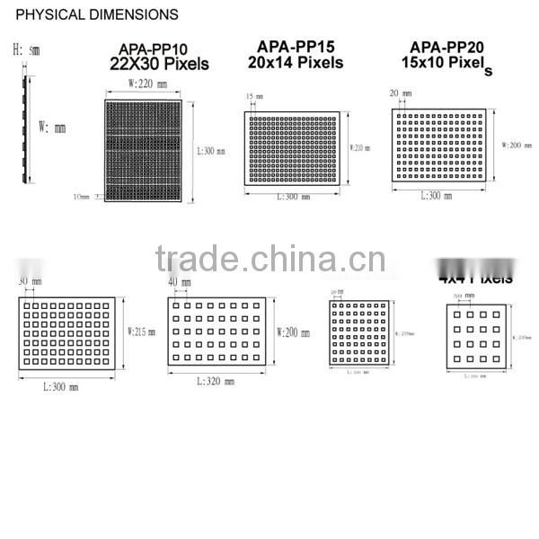 P10 660LEDS 22*30 apa102 led matrix panel