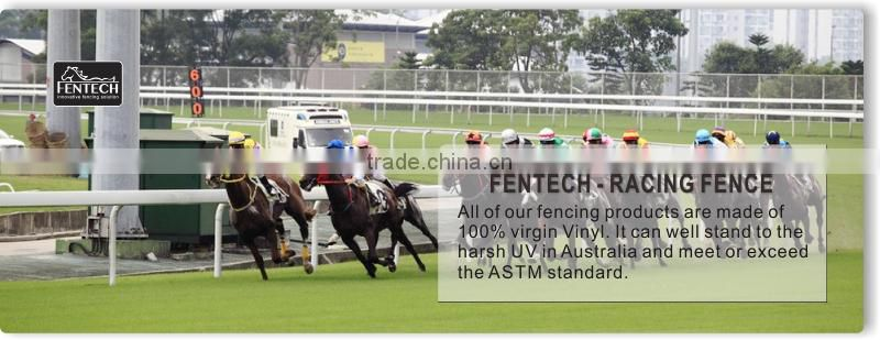 FenTECH brand Equestrianism Plastic UPVC Horse Riding fence