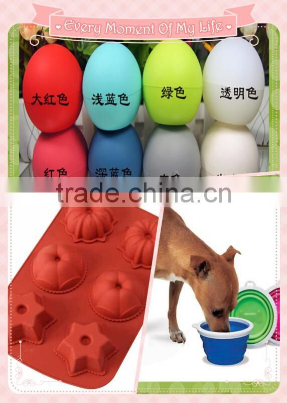 Portable Pet&gog Bowl Colorful Folding Silicone Pet Bowl For Travel