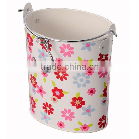 metal PVC Laundry Box with wire handle + hook