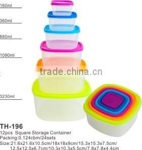 3pcs as a set storage box plastic round food container