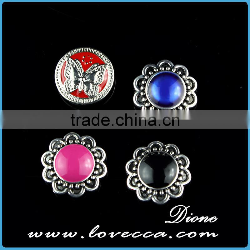 press button jewelry, charm crystal bracelet connectors