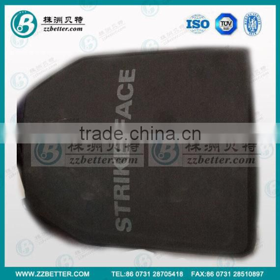 Silicon carbide insert with PE back for strike face NIJ IV