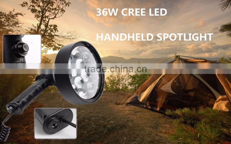 Portable Outdoor cree 36w Hunting Handheld Search Light
