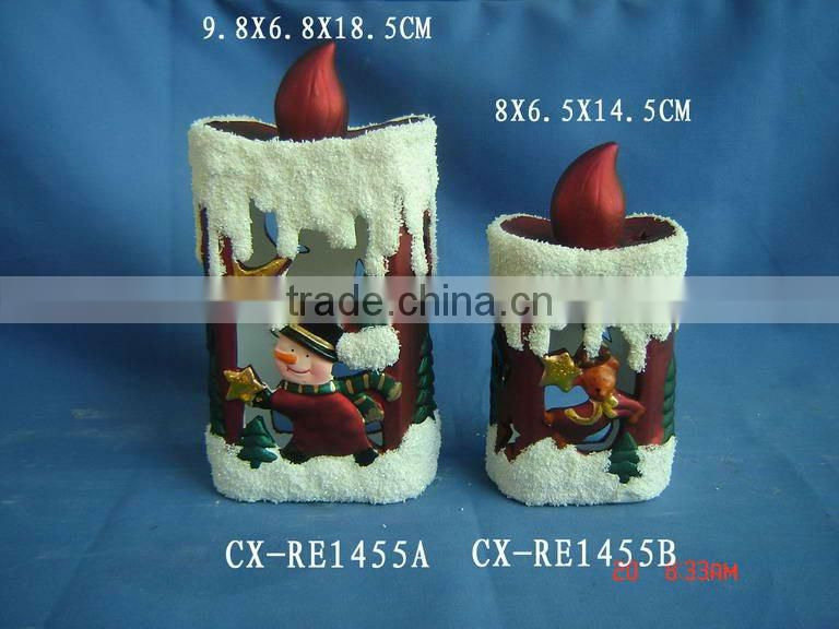 Professional ceramic LED santa clause for decoration