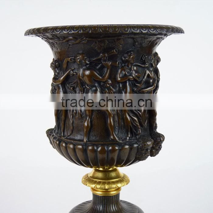 antique metal cast lion head bronze flower pot NTBF-FL118S