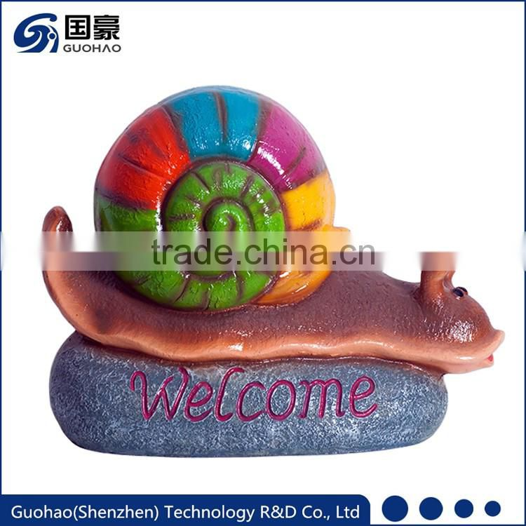 Attractive colorful Welcome snail garden sign Statue