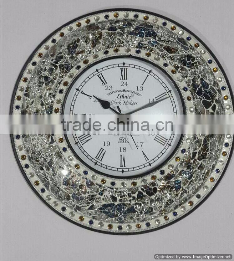 elegant metal clock