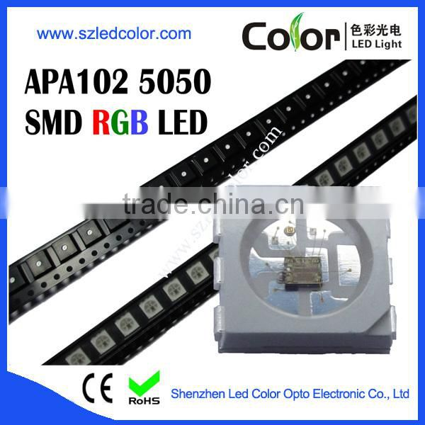 apa102 rgb digital 5050 smd led chip, addressable rgb apa102 led chip 0.2w