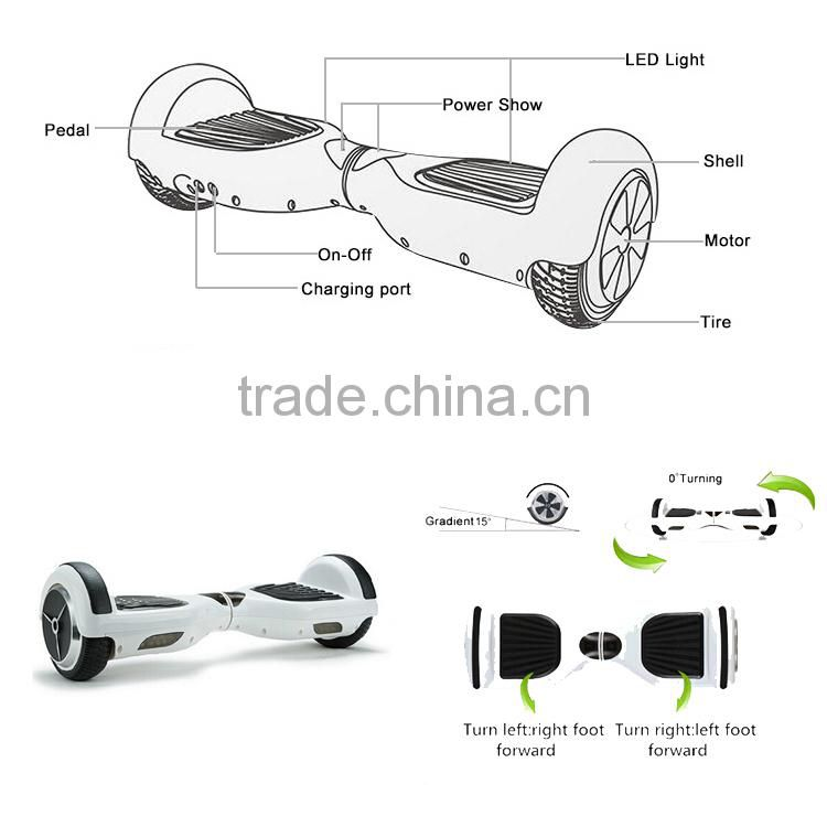 501-1000w Power and CE Certification 2 wheel self balance scooter