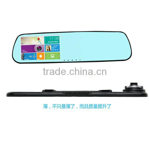 4.3 inch car mirror gps camera dual camera DVR recorder