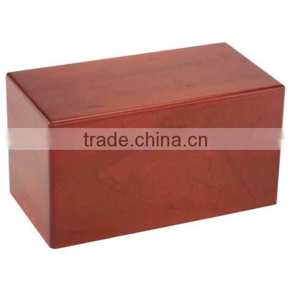 Chinese wholesale wooden funeral urn custom high quality