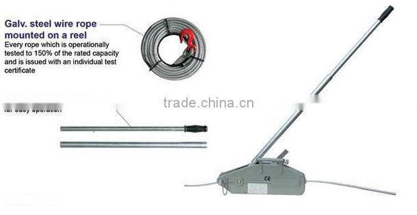 Steel Body 4x4 hand Wire Rope pulling Winch