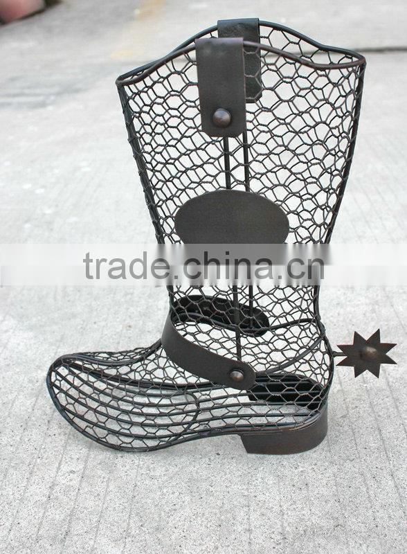 COWBOY BOOT WITH SPUR CORKS HOLDER