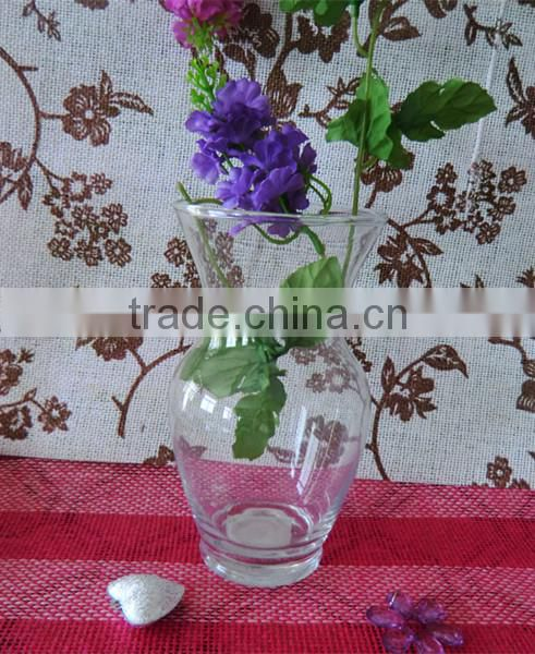 Ice Flowers Patterns Triangle Sugar-coated Haw Shape Unique Cheap Murano Transparent Glass Flower Vases