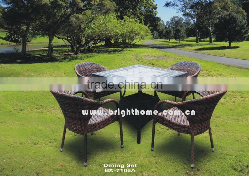 Outdoor Furniture Garden Furniture Rattan Chair Table Dining Set (FD-022e)