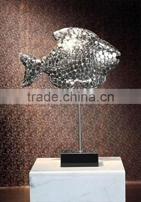 Casting Stainless Steel Fish Sculpture For Garden Decoraton