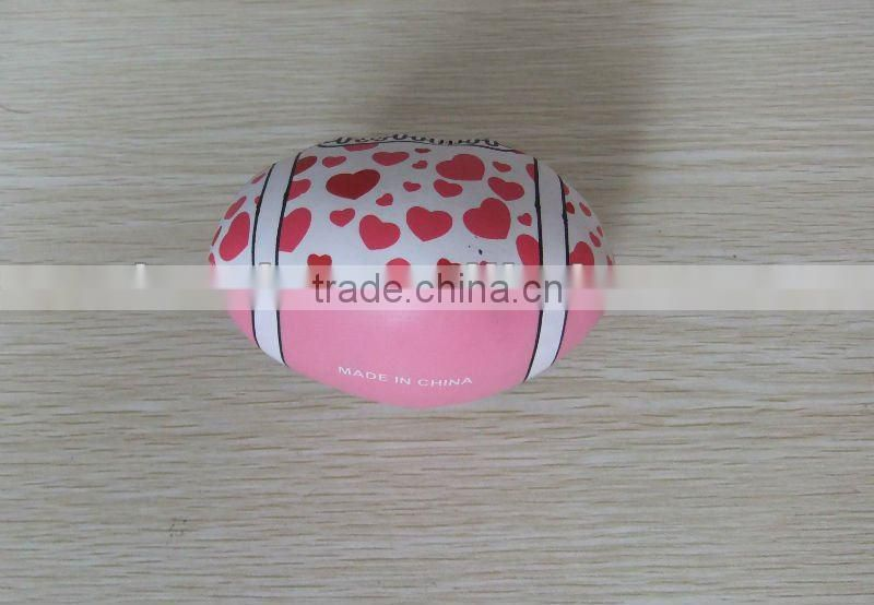 Promotional PVC custom design rugby juggling ball