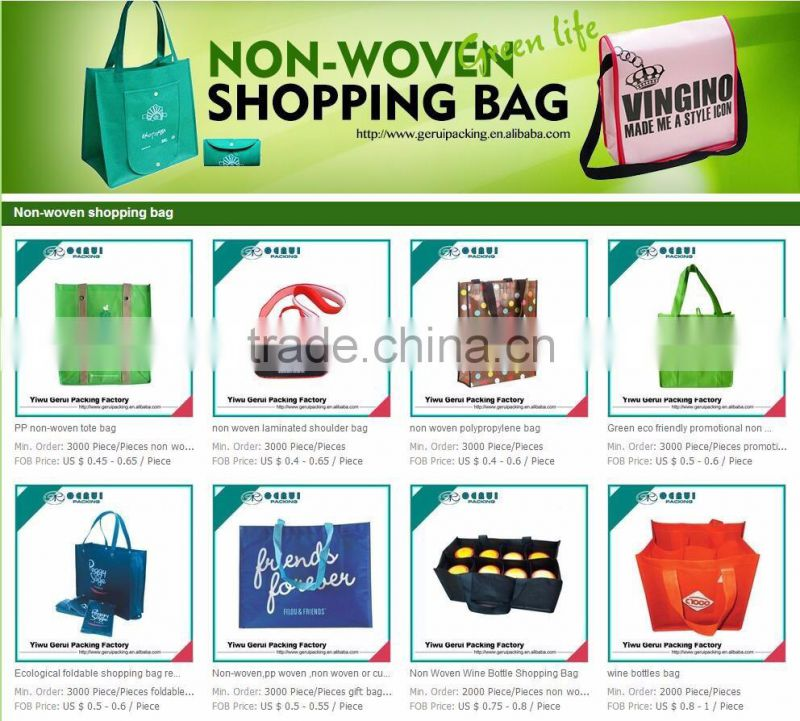 red promotional shopping polyester bag