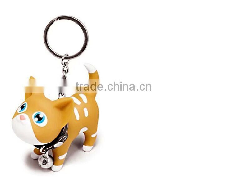 keychain factory in china,cute cat keychains,vinyl cat figurine keychain