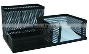 Multifunctional 6 Pieces Metal Mesh Office Set/file tray/office tray with wood bottom
