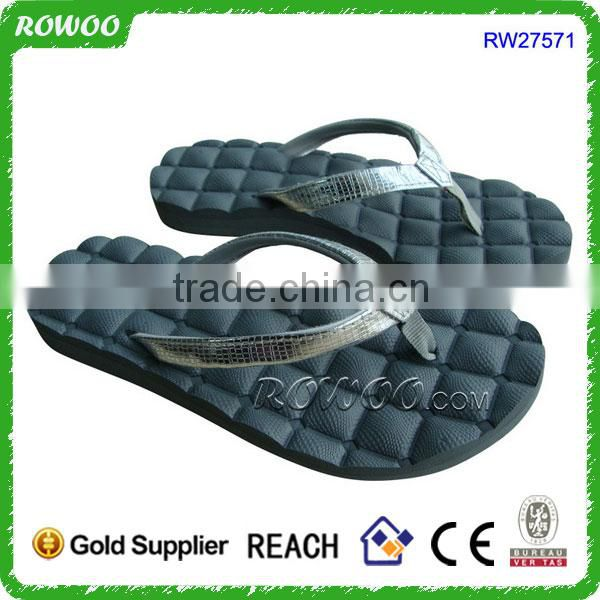 womens leather massage flip flop, outdoor leather flip flop slippers, massage flip flops eva and rubber