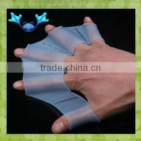 MA-407 2013 Fashion Flexible Finger Silicone Swimming Gloves