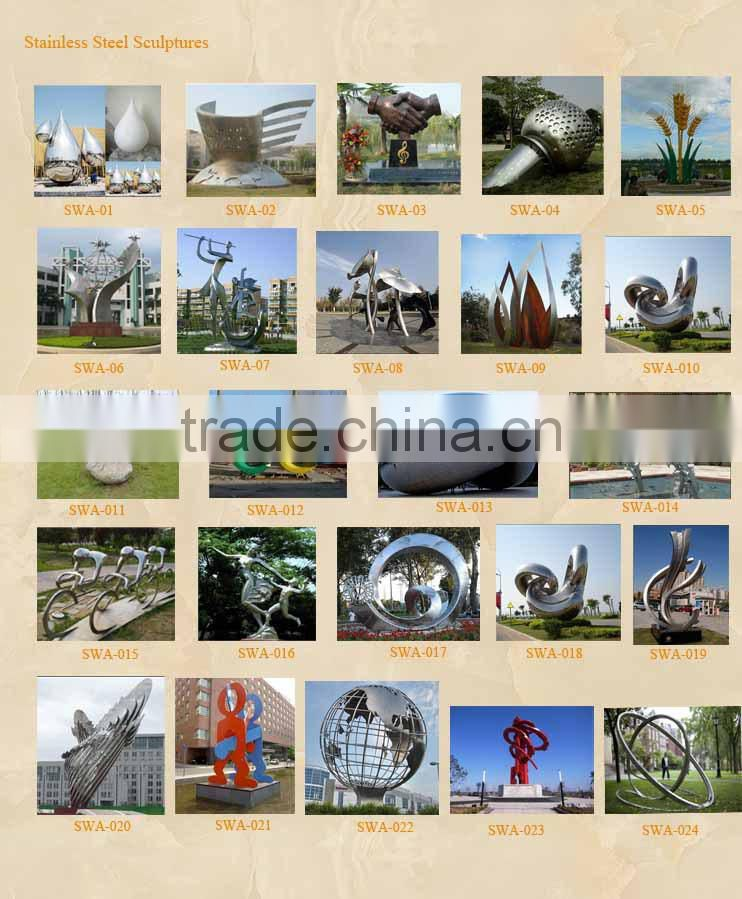 Landscape large size colored stainless steel sculpture installed in Saudi