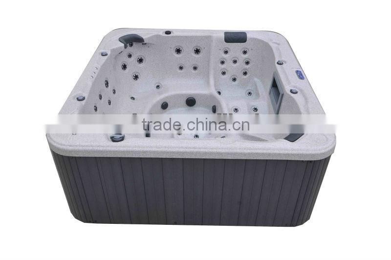 Large Seating Capacity Complete Bathtub With Two Lounger