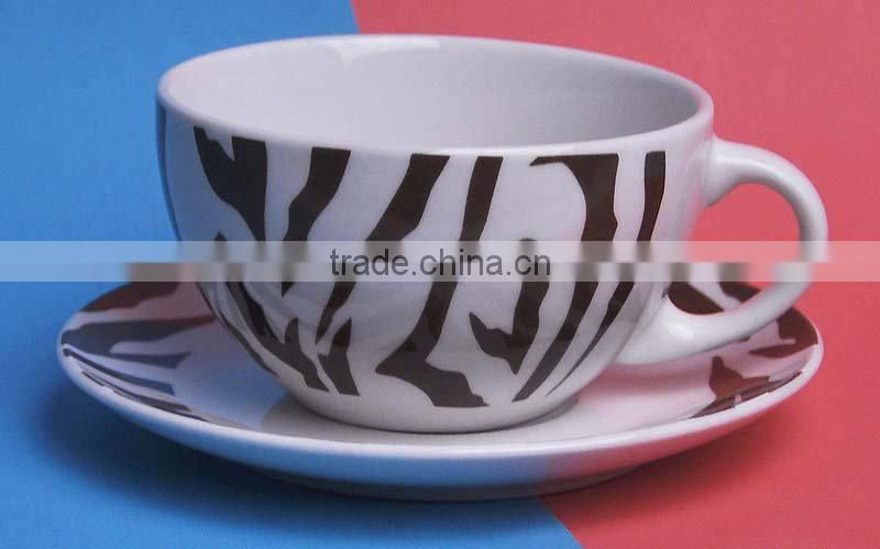 80cc cup and saucer porcelain with decal printing