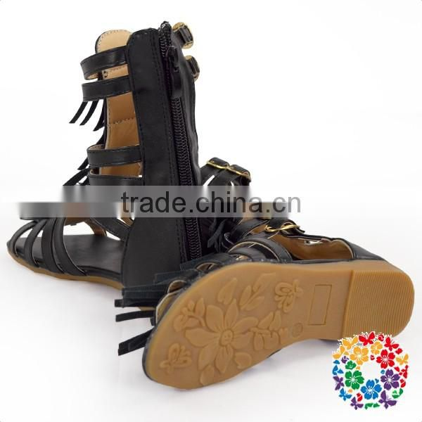 High quality wholesale kids toddler knee high gladiator sandals