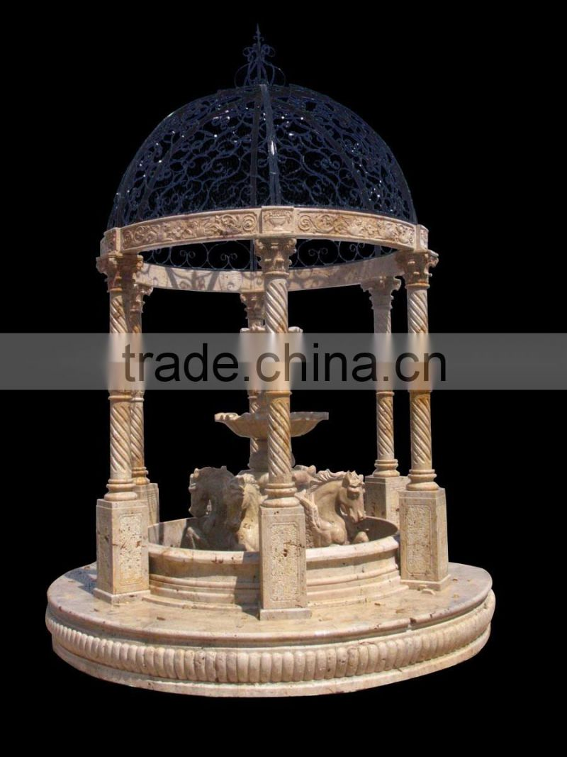 cheap antique marble garden pavilion NTMG-256S