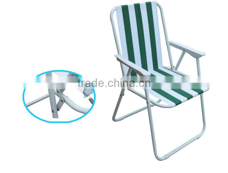 Outdoor beach chair comfortable folding beach chair with spring