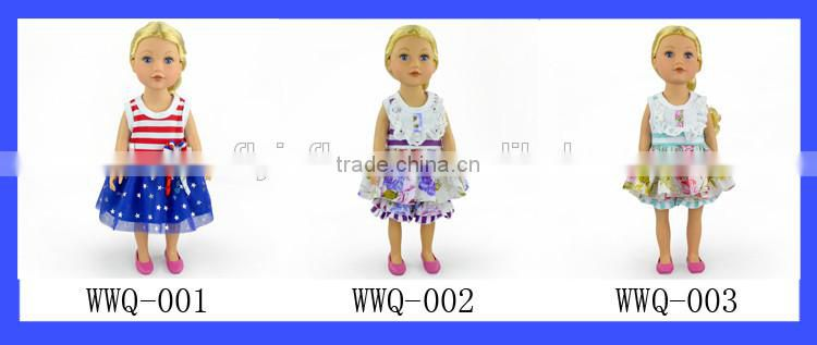 "Newest design pretty girl dolls birthday gift 18"" american girl doll clothes dress"