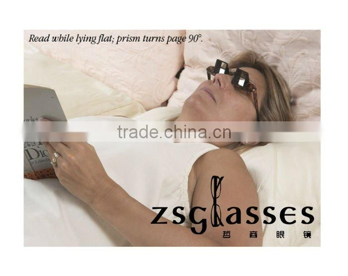 2012Cheap Italy designer Supine Reading Glasses for lazy people / prism glasses