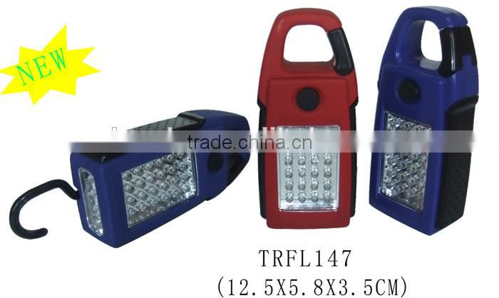 Plastic rotary hook magnetic 24+4 LED work light