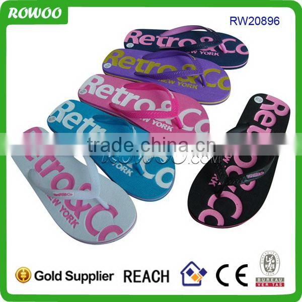 latest Promotional new style eva summer men beach flip flops made in china