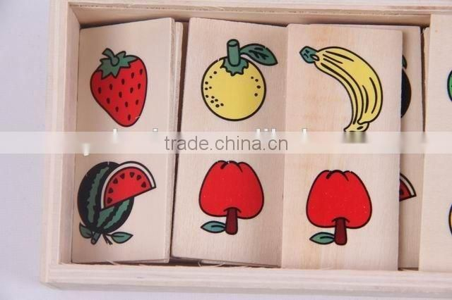 Intelligence Development Toy / Fruit patterns wooden Domino toys for children/chess game