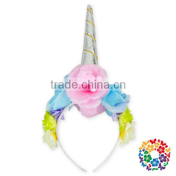 Little Girls Flower Crown Hairband Birthday Cute Elastic Baby Hair Band