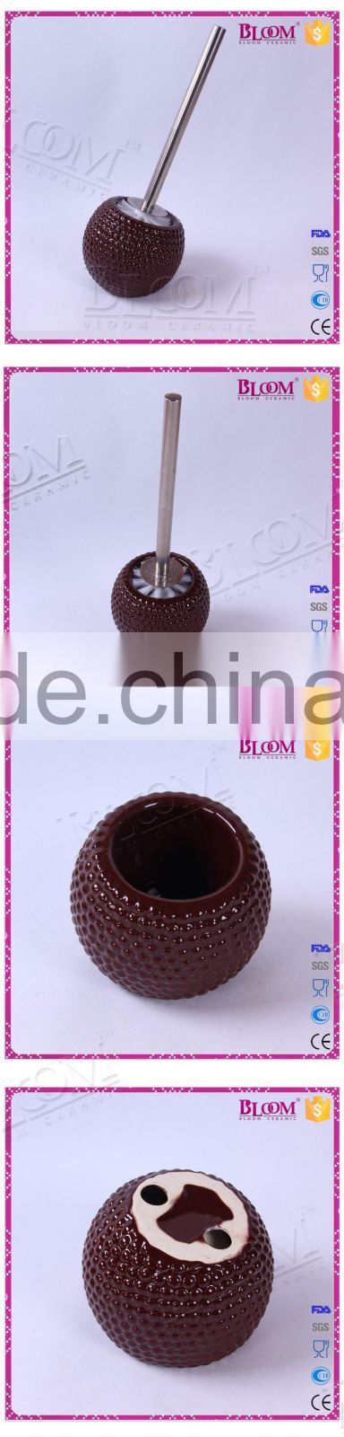bathroom accessories for ceramic round toilet brush holder