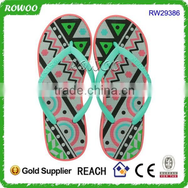 Black and colorful women fancy beautiful nude beach flip flop