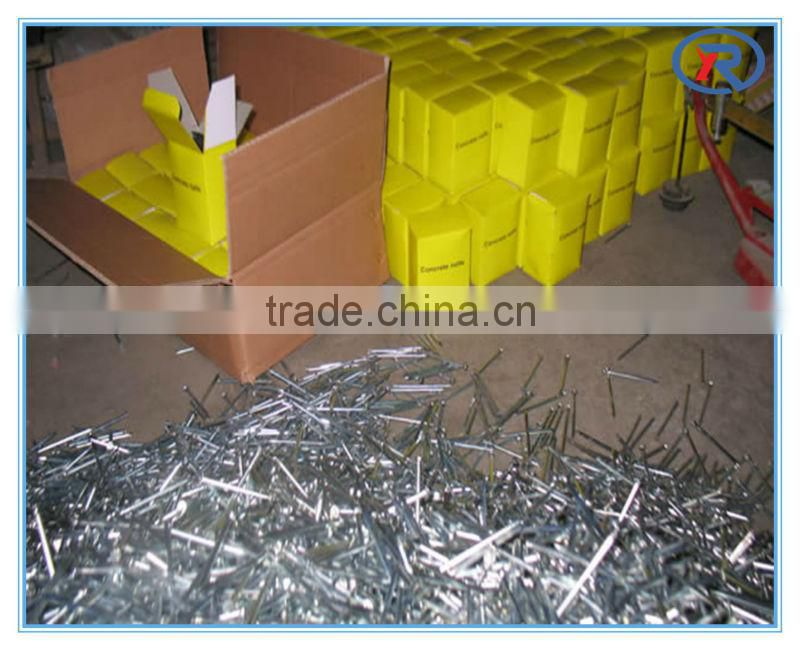 hot sale Galvanized hardened concrete nails fluted Shank/steel nail made in china